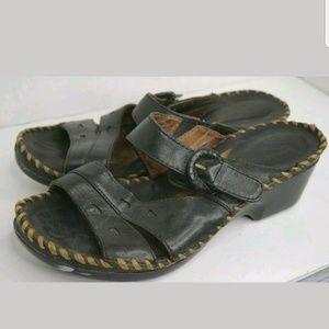 Ariat clog sandal slides chunky 8 leather mules